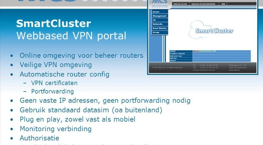 SMART CLUSTER VPN AND CONEL MOBILE ROUTER – VADnet Europe